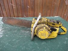 "Vintage McCULLOCH Chainsaw Chain Saw + 17"" Bar BIG OLD HEAVY"