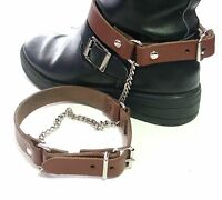 Real Leather PLAIN BOOT STRAPS-3 COLOUR--BROWN-TAN-BLACK
