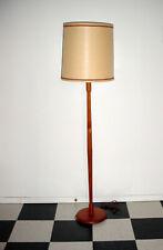 "VINTAGE TEAK FLOOR LAMP MID CENTURY MODERN COLUMN POLE FLOOR LAMP 54"""
