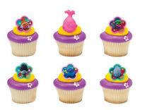 Trolls Movie Dreamworks cupcake rings (24) party favor cake topper 2 dozen