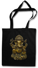 GANESHA VINTAGE Hipster Shopping Cotton Bag - Buddhism Hinduism Hindu Yoga India