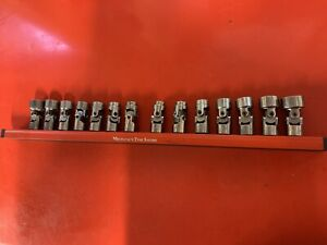 14pc Craftsman G series USA  flex swivel Socket Metric & SAE 6 point and holder