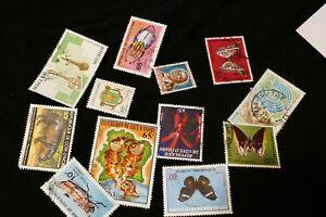 12 Ivory Coast postage stamps philately postal Philatelic Africa