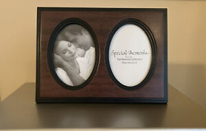 Special Moments Memories Collection 2-place Oval Collage Photo Frame Brown Black