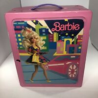 Mattel Barbie Doll Trunk Carrying Case with  Dolls Accessories Vintage Lot