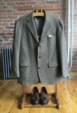 RRL Vintage Sport Coat, Herringbone Tweed Brown, Sz 42R Large, Made In USA