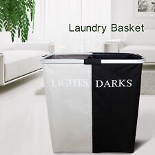 Unique Double Hamper Laundry Basket Clothes Storage Bin Washing Sorter Organizer