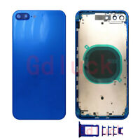 NEW For iPhone 8 8Plus Rear Battery Cover Frame Housing Door Middle Bezel+Button