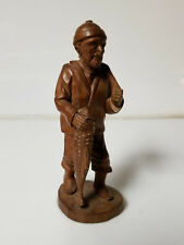 Vintage Wood Hand Carved Fisherman man by the sea
