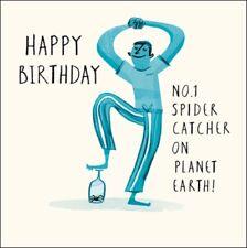 No.1 Spider Catcher Livin' It Birthday Greeting Card Contemporary Range Cards