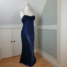 Jora Collection Vintage Prom Evening Dress Size L Blue Sparkly Ballgown Two Tone