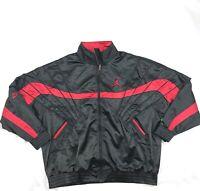 Nike Air Jordan 5 AJ5 Satin Full Zip Jacket Bred Black Red AR3130-010 Mens M-3XL