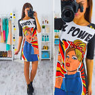 Women's Floral Slim Bodycon Mini Dress Summer Party Casual Short Sleeve Dresses