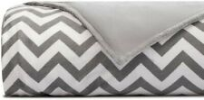 "Chevron Print Weighted Blanket Cover – 60""x80"", Grey"