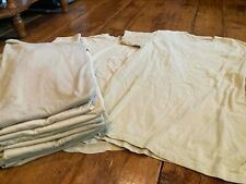 US ARMY BEIGE T-SHIRTS VARIOUS SIZES AND FITS (LOT OF 12)