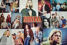 "Nirvana ""Horizontal Collage Of The Group"" Asian Poster - 90's Grunge Rock Music"