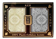 KEM ARROW BLACK AND GOLD PLAYING CARDS POKER SIZE JUMBO INDEX