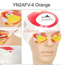 NEW YINGFA YN2AFV ORANGE SWIMMING GOGGLES ANTI-FOG UV PROTECTION CLASSIC STYLE!!