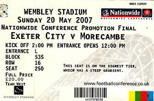 Exeter City Football Non-League Fixture Tickets & Stubs
