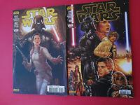 STAR WARS - COMICS PANINI VF - VADOR ABATTU 1 ET 2 - VARIANT EDITION - N°7 ET 8