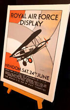 EARLY ROYAL AIR FORCE DISPLAY POSTERS 1938  STRETCHED AND FRAMED CANVAS