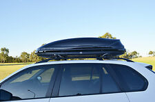 360L Aerodynamic Roof Rack Luggage Box Pod Ski Snowboard Tent Camping Carrier