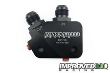 Improved Racing Low-Profile Oil Cooler Adapter for LS1 LS2 LS3 LS6 LS7, -10AN