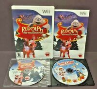 Rudolph + Santa Clause is Comin' to Town  Nintendo Wii 2 Game Lot Tested Working