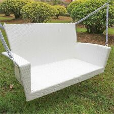 International Caravan Kingston Patio Swing in White