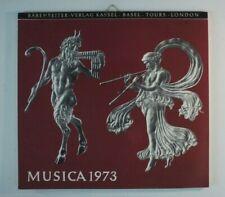 Bärenreiter Verlag Kassel Basel Tours London Musica 1973 Kalender Y4-468