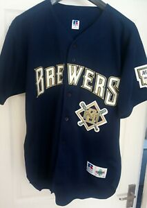 Milwaukee Brewers Authentic Jersey Size 48, Russell Athletic MLB baseball shirt