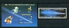 GUINEA - BISSAU 1986 Space Halley's comet S/S & complete set MNH (1873)