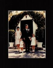 John Kennedy Jacqueline John Jr Caroline Photo Easter 1963 Matted