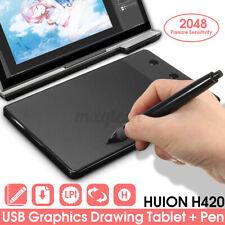 Huion H420 Pro Digital Drawing Pad Graphics Writing Pen Tablet Board Mat