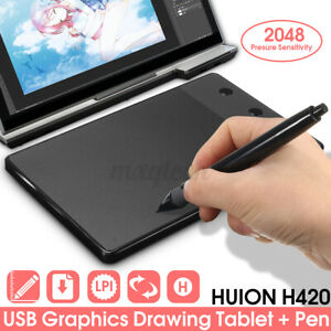 Huion H420 Pro Digital Drawing Pad Graphics Writing Pen Tablet Board Mat