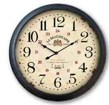 """Extra Large Glass Front Retro Shabby Chic Wall Clock 93cm Diameter (36"""" +) 6847"""