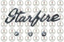 1964 Oldsmobile Starfire Chrome Front Fender Script Emblem With Hardware Fits 1964 Oldsmobile