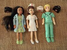 Polly Pocket Medical Hospital Doctor Surgeon Nurse Lot Set Boy Dolls R95