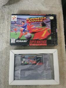 International Superstar Soccer snes,box and game,no manual, see pics