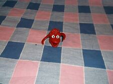 o. New No Tags Russ Berrie Rubber Finger Puppet Red Monster Wiggler