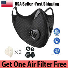 Air Purifying Cycling Face Mask + 2 Activated Carbon Filter +2 Breathing Valves