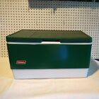 Vintage 1984 Metal Green Coleman Cooler Steel Belted With Tray Insert