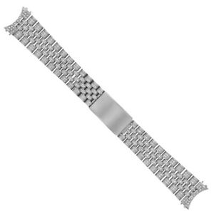 ALL DIAMOND STAINLESS STEEL JUBILEE WATCH BAND FOR ROLEX 36MM DATEJUST 4.65CT