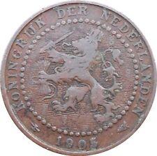 Netherlands 1 Cent 1905 KM#132 Wilhelmina (N-15)