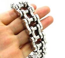 Silver Biker Stainless Steel Huge Heavy Motorcycle chain Men's Bracelet 22mm 9''