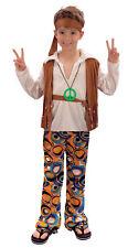 KIDS HIPPY BOY FLOWER POWER 60'S 70'S FANCY DRESS BOOK WEEK SIZE 4-15 YEARS