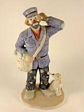 Vintage Flambro Mail Post Man Clown with Dog Emmett Kelly Jr 25