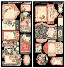 Graphic45 Die-Cuts MON AMOUR TAGS & POCKETS scrapbooking VINTAGE ROMANCE