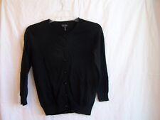 "Nicole Miller black cardigan sweater, sz. S, 34"" chest"