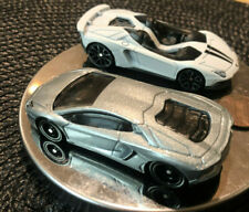 Hot Wheels Lamborghini Aventador Coupe Real Riders Loose & Aventador J Drop Top